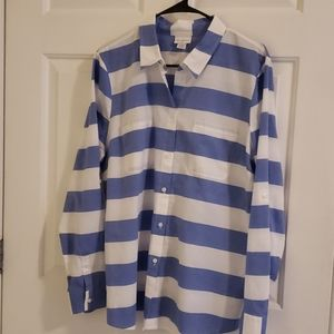 Jaclyn Smith long sleeve button up XL  Striped top